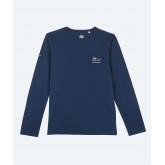 Copan - Tee-shirt coton biologique Homme manches longues - Marine