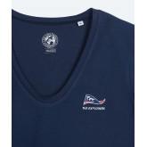 Moorea - Tee-shirt coton biologique Femme manches longues - Marine